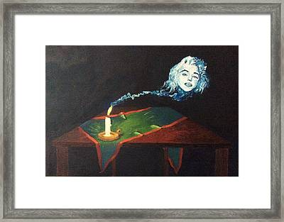 Candle In The Wind Framed Print by Fabio Tedeschi