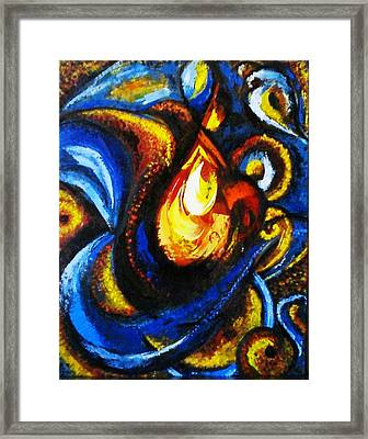 Framed Print featuring the painting Candle In Your Heart by Harsh Malik