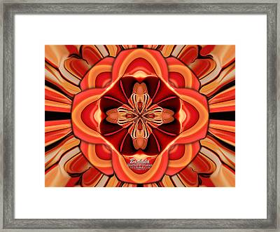 Candle Inspired #1173-4 Framed Print by Barbara Tristan