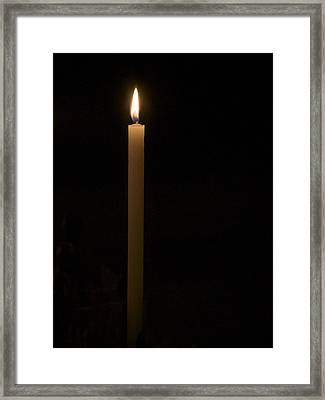 Candle Light Framed Print by Marion McCristall