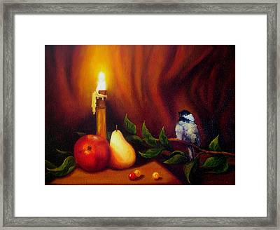 Candle Light Melody Framed Print by Valerie Aune
