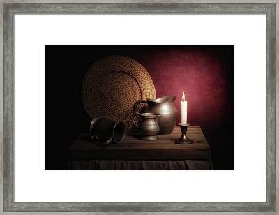Candle Light Still Life Framed Print