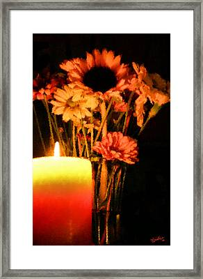 Candle Lit Framed Print by Kristin Elmquist