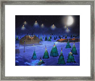 Candle Mountain Express 2 Framed Print by Ken Figurski