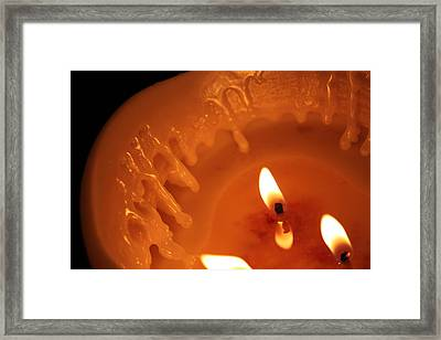 Candle Framed Print by Nathan Grisham