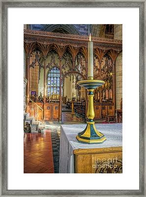 Framed Print featuring the photograph Candle Of  Prayer by Ian Mitchell
