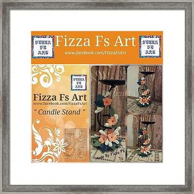 Candle Stand Framed Print by Fizza  Shahid