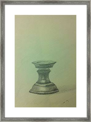 Candle Stand Study Framed Print by Krishnamurthy S
