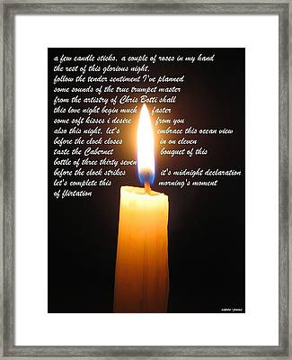 Candle Sticks Framed Print by David Norman