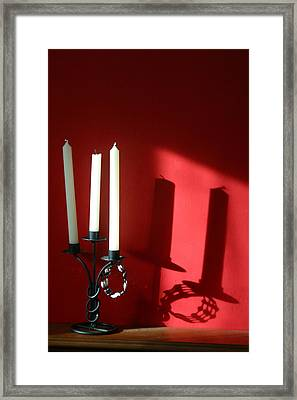 Candled Framed Print by Jez C Self