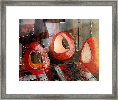 Candleholders In A Confusion Room Framed Print by Evguenia Men