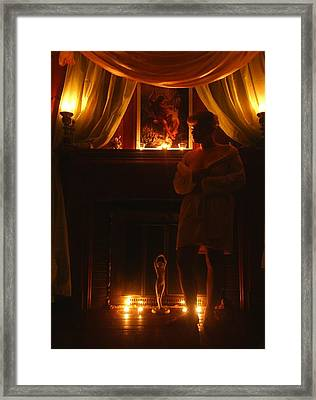 Candlelight Glow Framed Print by Scarlett Royal