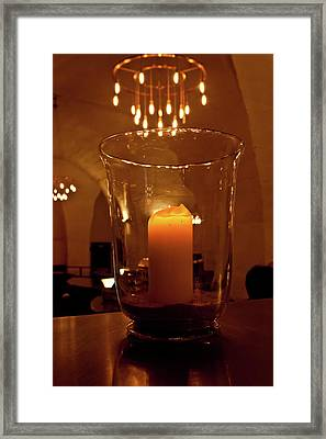 Candlelight Framed Print by Jill Smith