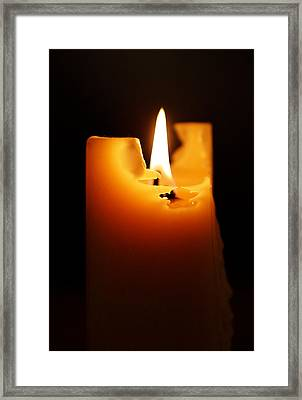 Candlelight Framed Print by Rona Black