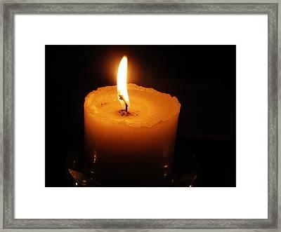 Candlelight Framed Print