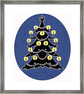 Candlelit Christmas Tree Framed Print by Nancy Mueller