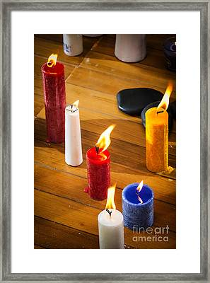 Candles Framed Print by Charuhas Images