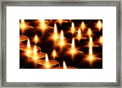 Candles Christmas Card Framed Print by Bellesouth Studio