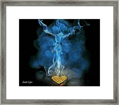 Candles - Da Framed Print by Leonardo Digenio