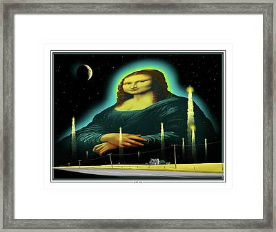 Candles For Mona Framed Print