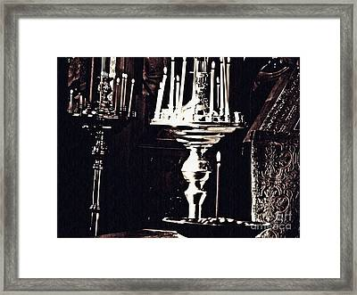 Candles In Church Framed Print