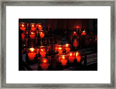 Candles In Church Framed Print by Art Spectrum