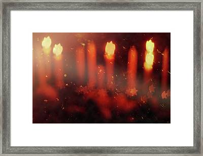 Candles In The Wind Framed Print by AugenWerk Susann Serfezi