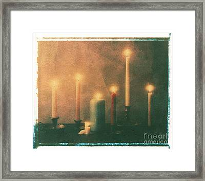 Candles Framed Print by Jim Wright