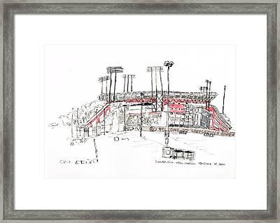 Candlestick Park Framed Print by Heng Hua Wang