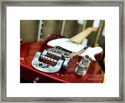 Candy Apple Fender Framed Print