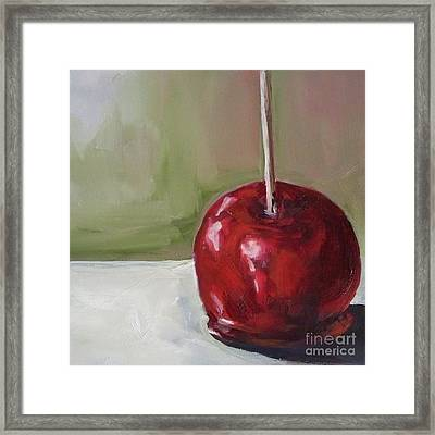 Candy Apple Framed Print by Kristine Kainer