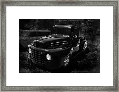Vintage  F1 Chevy Truck Bw Framed Print by Lesa Fine