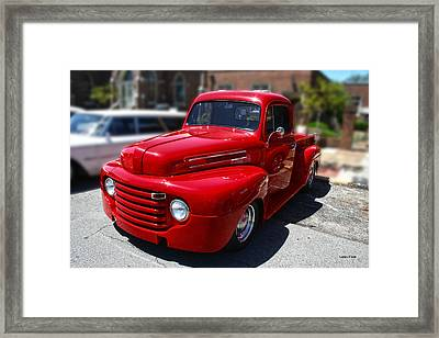 Candy Apple Red F1 Chevy Truck Framed Print