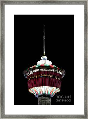 Framed Print featuring the photograph Candy Cane Tower by Brad Allen Fine Art