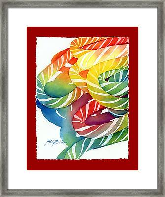 Candy Canes Framed Print by Hailey E Herrera