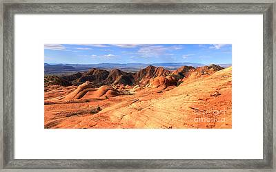 Candy Cliffs And Red Cliffs Panorama Framed Print