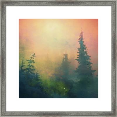 Candy Clouds On Goat Mountain Framed Print by Squashyhead