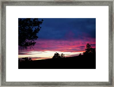 Candy-coated Clouds Framed Print