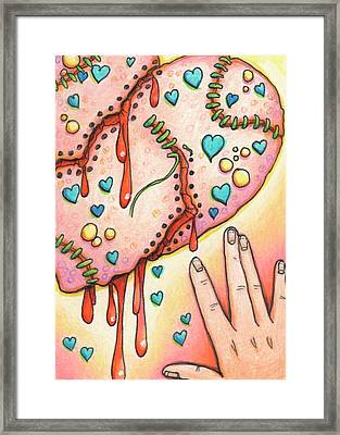 Candy Colored Heartache Framed Print by Amy S Turner