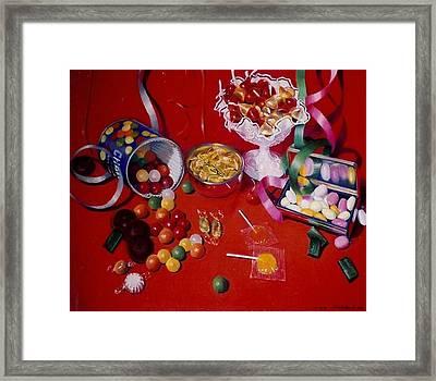 Candy Framed Print by Constance Drescher