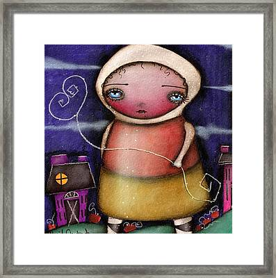 Candy Corn  Framed Print by  Abril Andrade Griffith