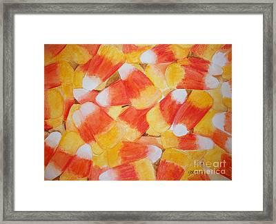Candy Corn Framed Print