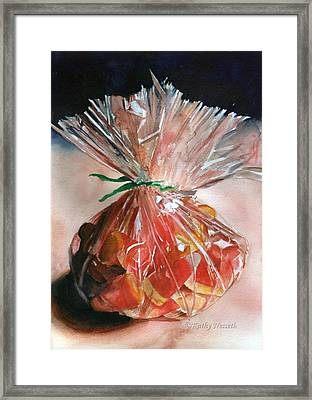 Candy Corn Framed Print by Kathy Nesseth