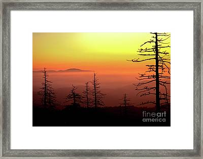Framed Print featuring the photograph Candy Corn Sunrise by Douglas Stucky