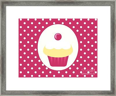 Candy Cupcake  Framed Print by Kourai