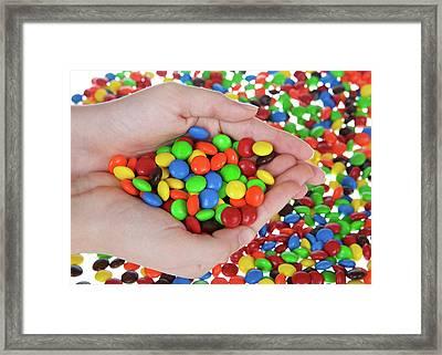 Candy Delight Framed Print