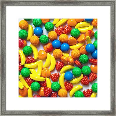 Candy Fruit Framed Print by Art Block Collections