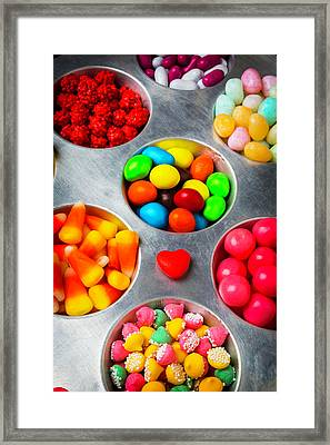 Candy Heart And Tray Framed Print by Garry Gay