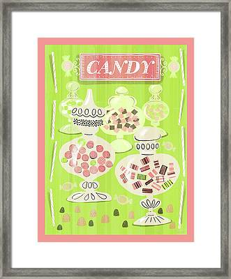 Candy Is Dandy Framed Print by Little Bunny Sunshine