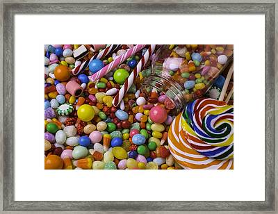 Candy Jar Framed Print by Garry Gay
